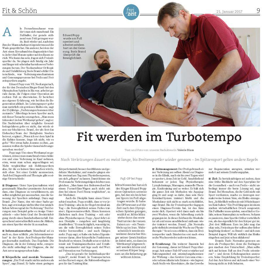 Medicross-Zentrum Orthopädie Sportorthopädie Unfallchirurgie Chirurgie Neckarsulm Fachbeitrag
