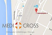 Online Terminvergabe Medicross Zentrum Anfahrt und Kontakt